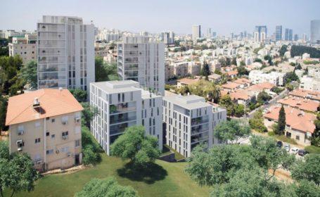 פינוי בינוי  המרי ניצנה בגבעתיים של חברת דוניץ קרדיט הדמייה דני קייזר אדריכלים